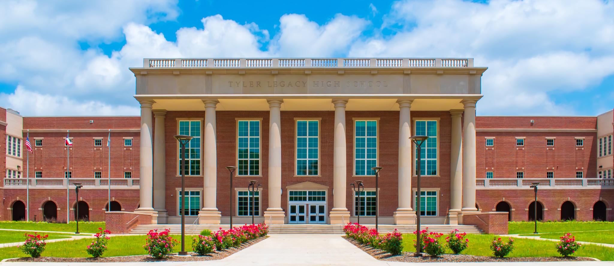 Entrance of Tyler Legacy High School