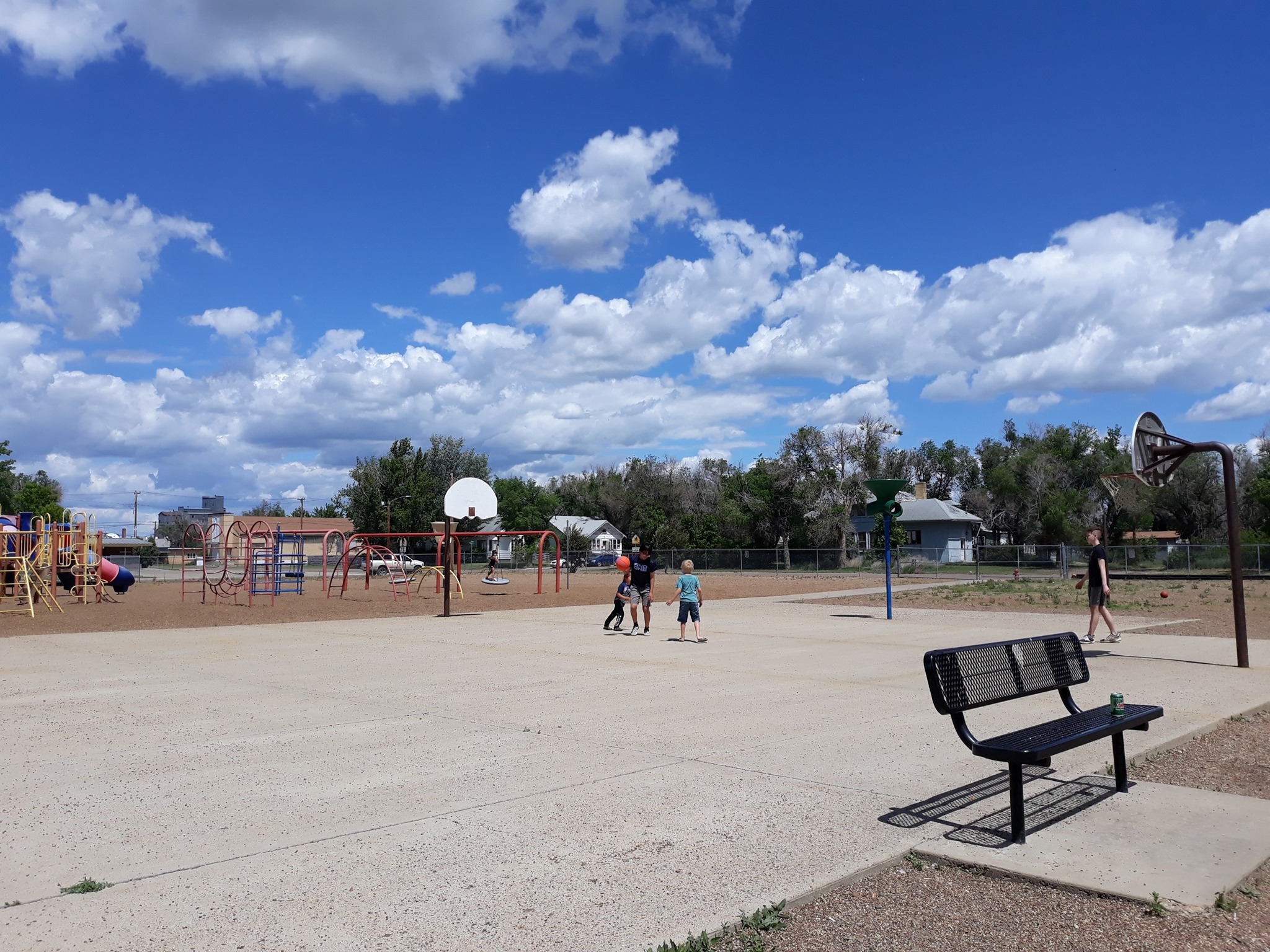 Southside Elementary playground on a sunny day