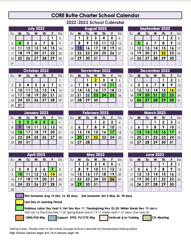 22-23 Calendar