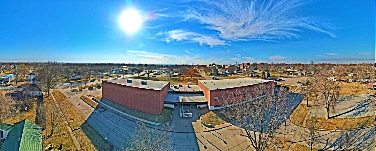 aerial view middle school