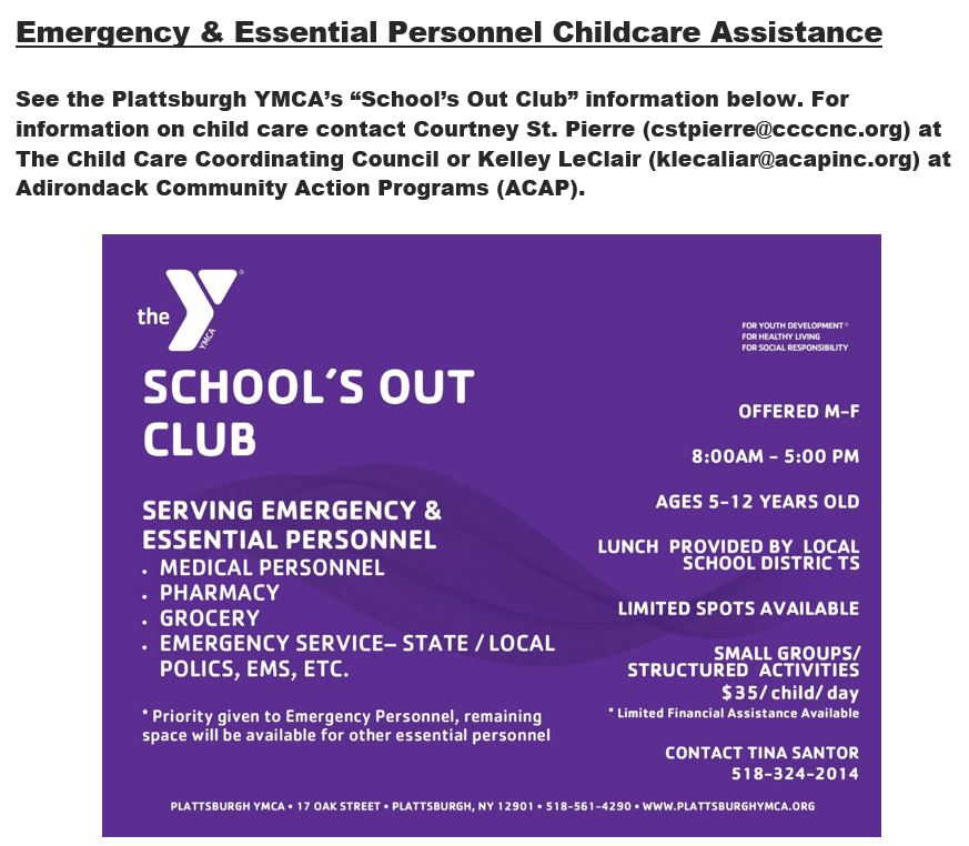 Emergency & Essential Personnel Childcare Assistance