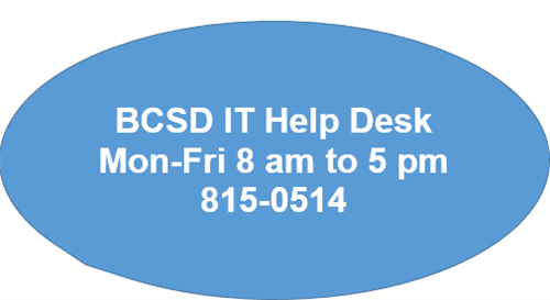 IT Help Desk Mon-Fri 8am to 5 815-0514