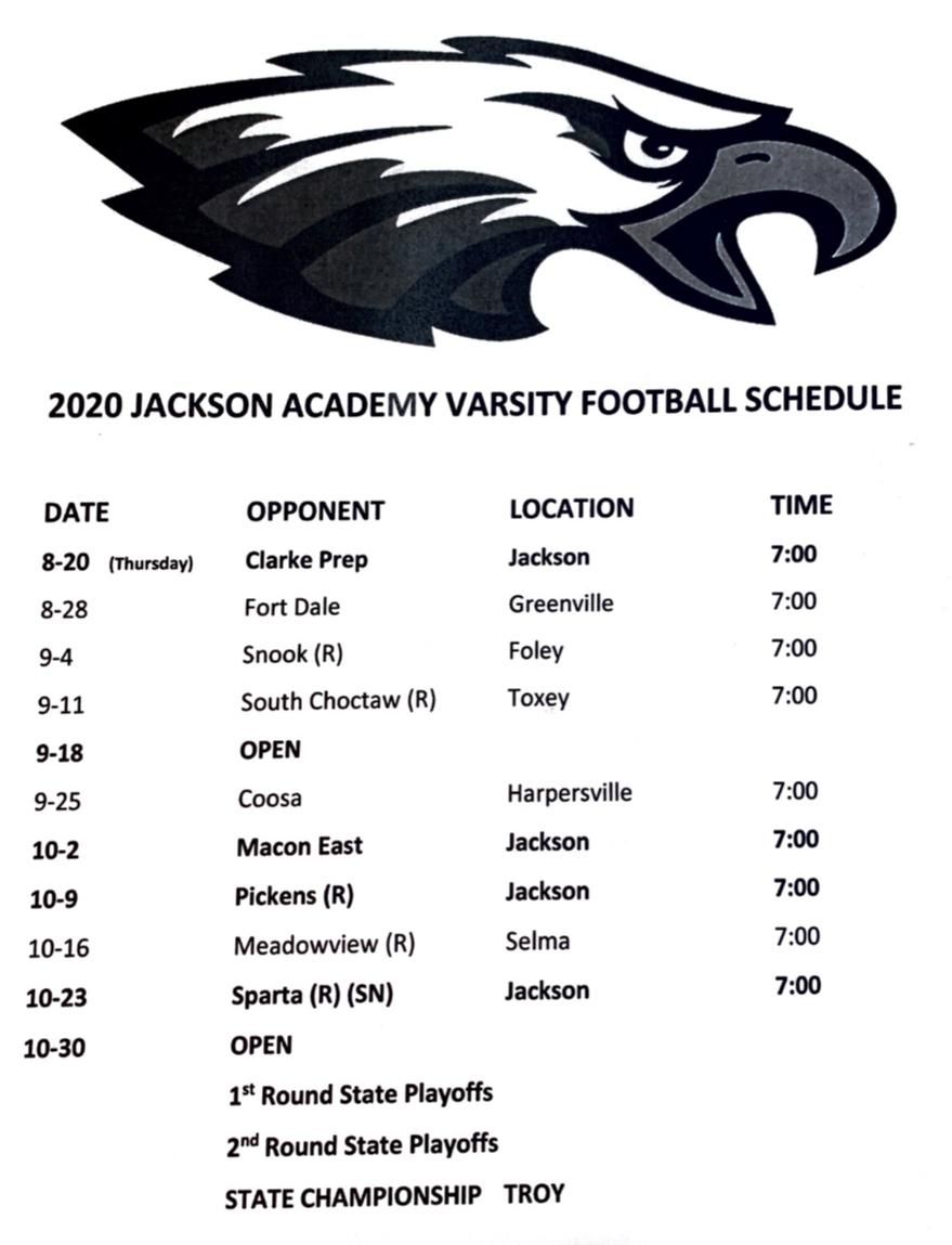 Varsity Game Schedule