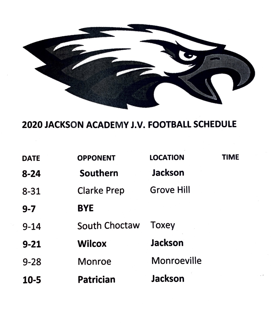 JV Football Schedule
