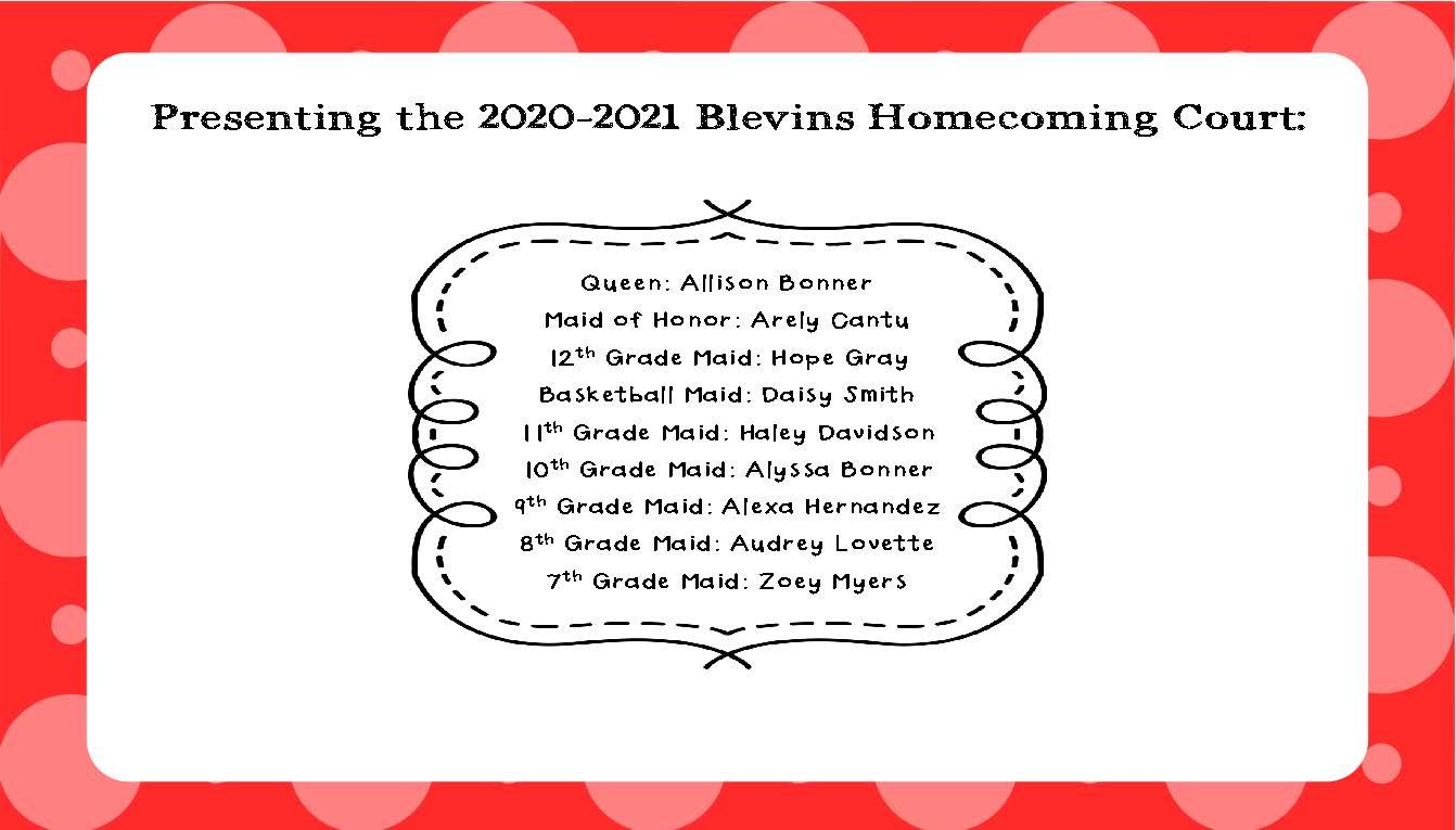 2020-21 Homecoming Court
