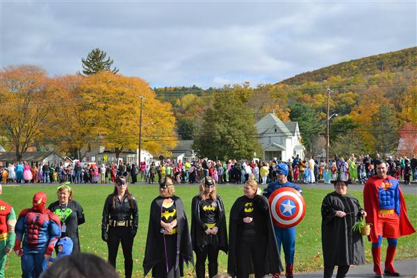 a photo of students in costume