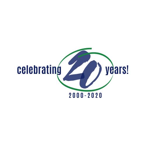 celebrating 20 years logo