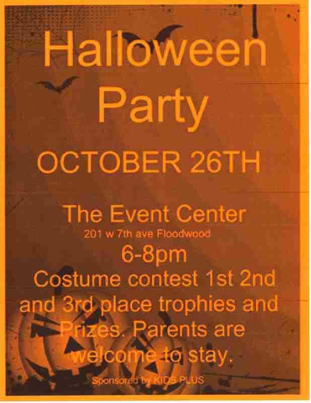 a photo of a halloween party invitation