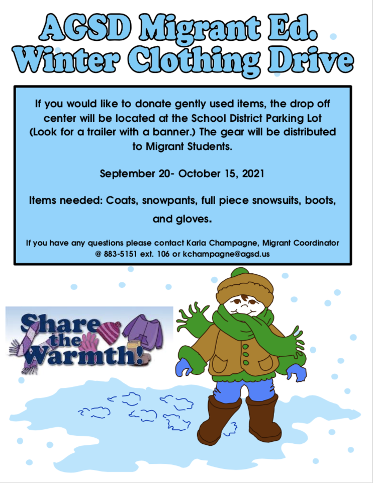 Migrant Ed. Winter Clothing Drive