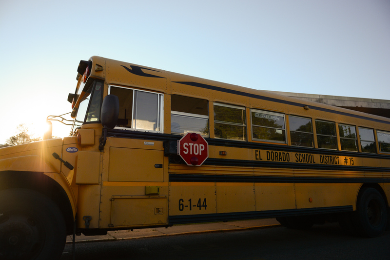 A photo of a school bus.
