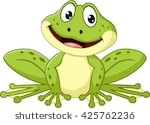 Cartoon picture of a green frog