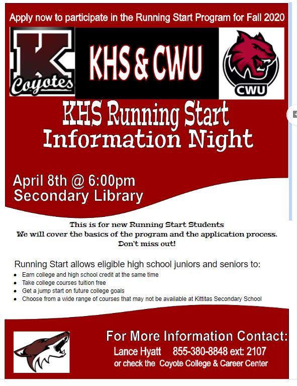 RUNNING START INFORMATION NIGHT