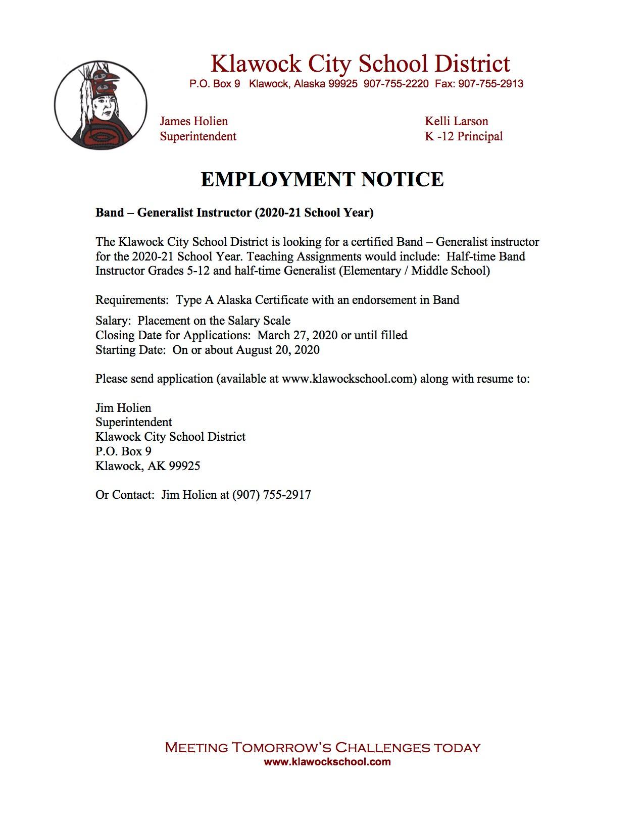 Job Openings/Applications