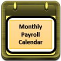 Monthly Payroll Calendar