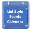 List Style Events Calendar