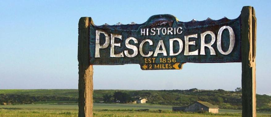 Pescadero Town Sign