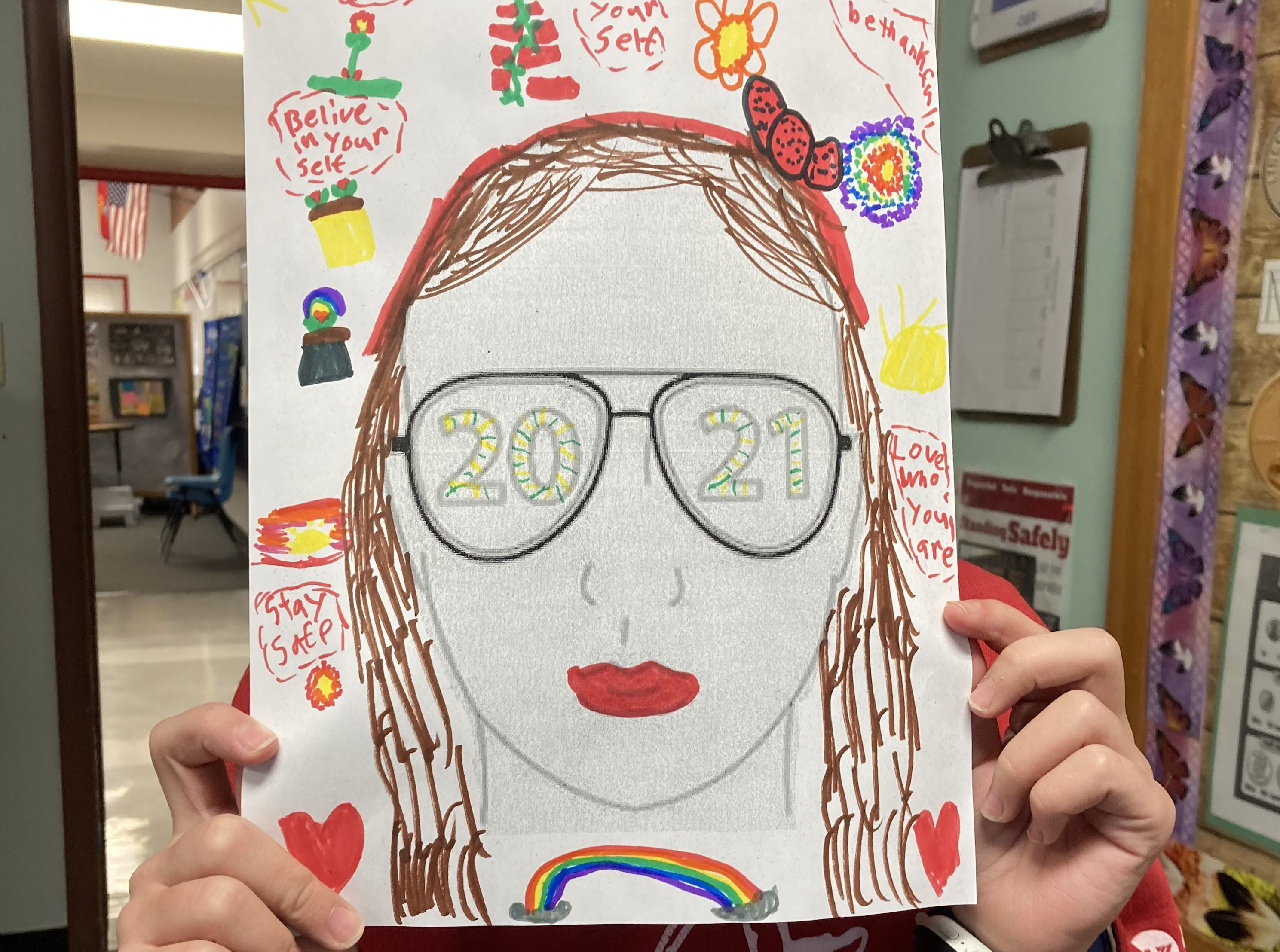 Student Drawing of 2021 Self Head