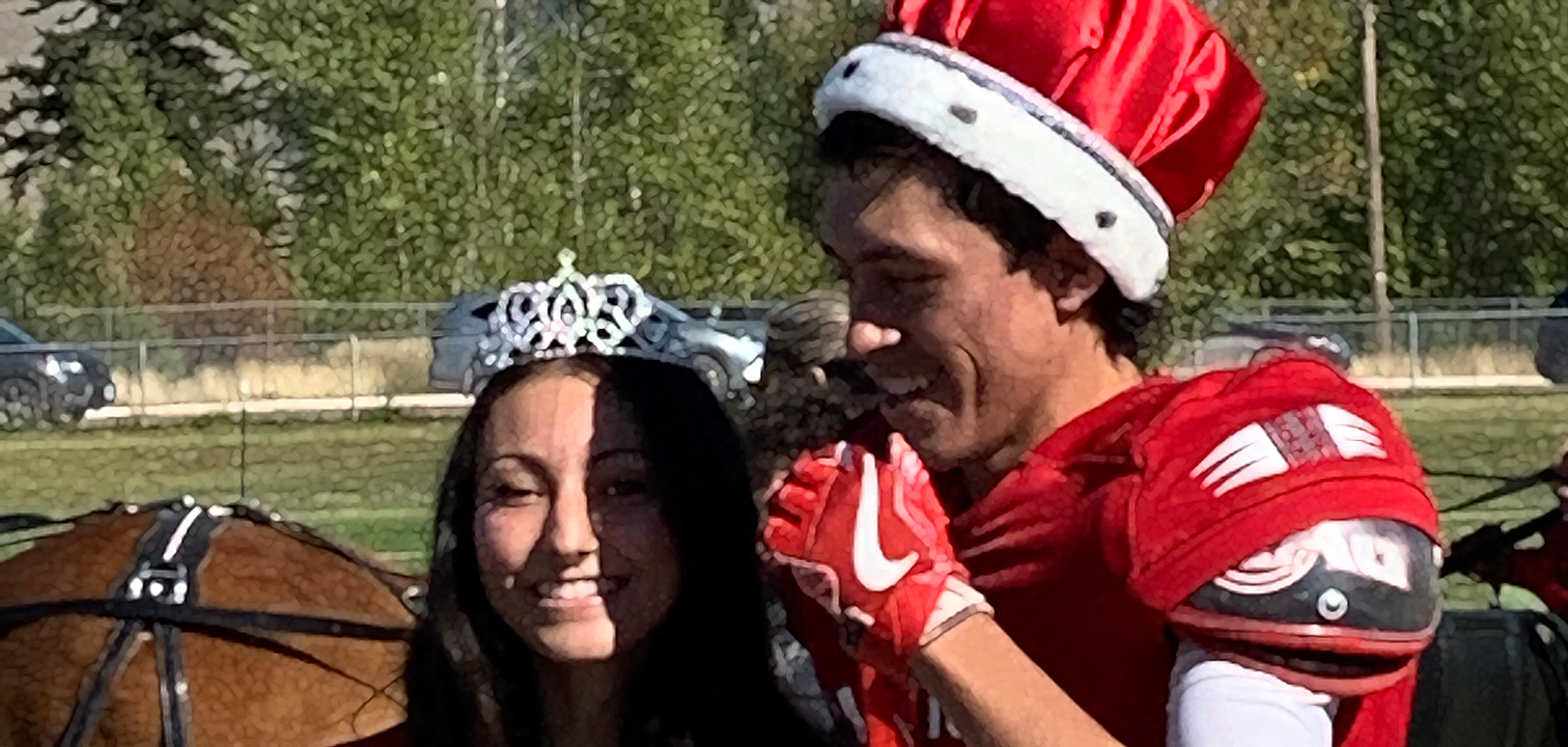 Homecoming Royalty Ryann and Tyrel