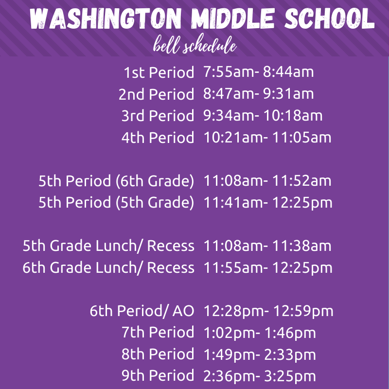 WMS Regular Bell Schedule