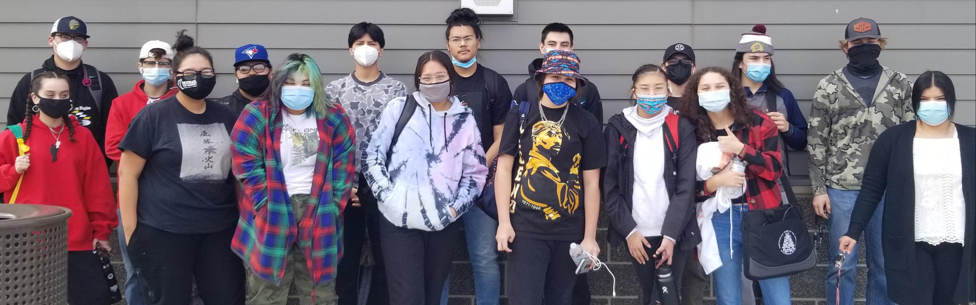 seniors with masks
