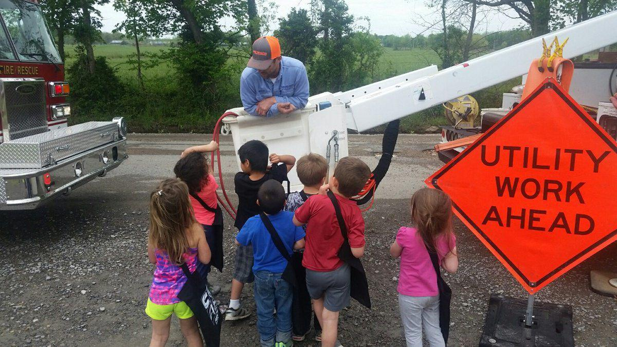 utilities visit school