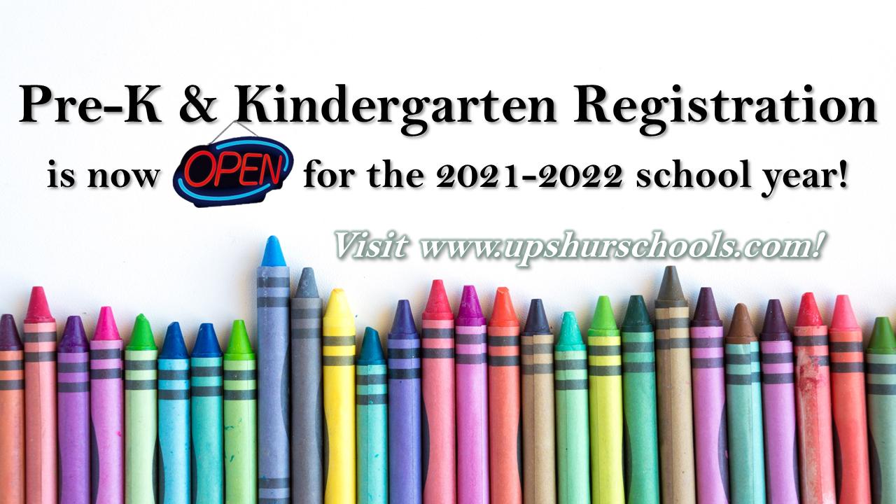 pre-k and kindergarten registration information