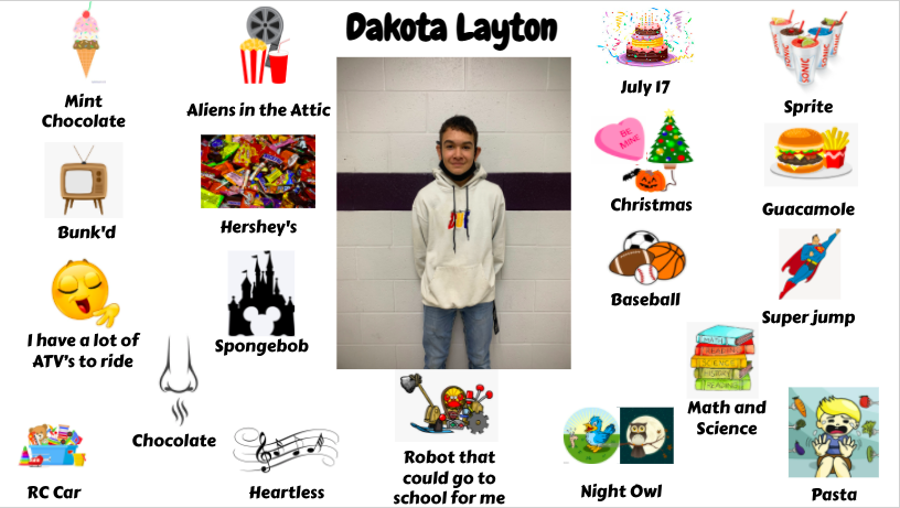 Jr. High Student Dakota Layton