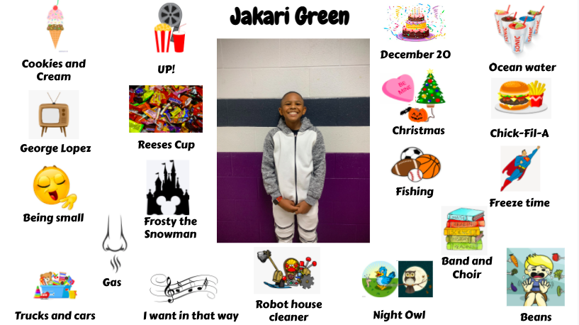 Jr. High Student Jakari Green