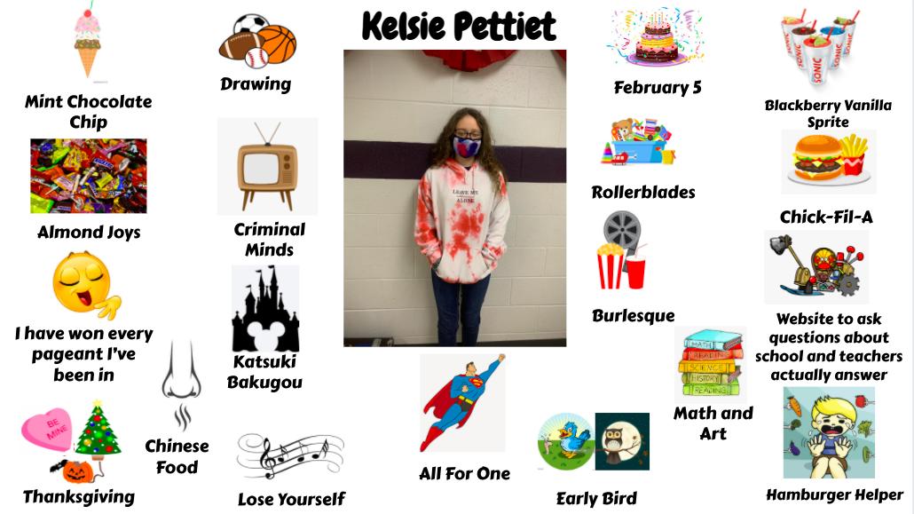 Jr. High Student Kelsie Pettiet