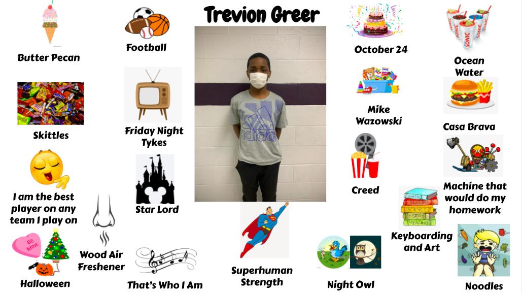 Jr. High Student Trevion Greer