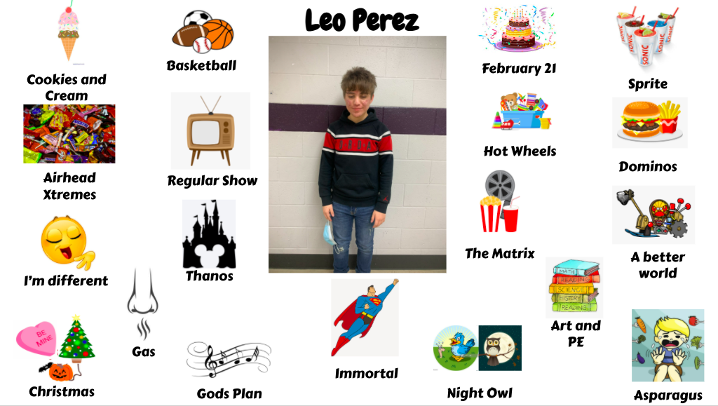 Jr. High Student Leo Perez