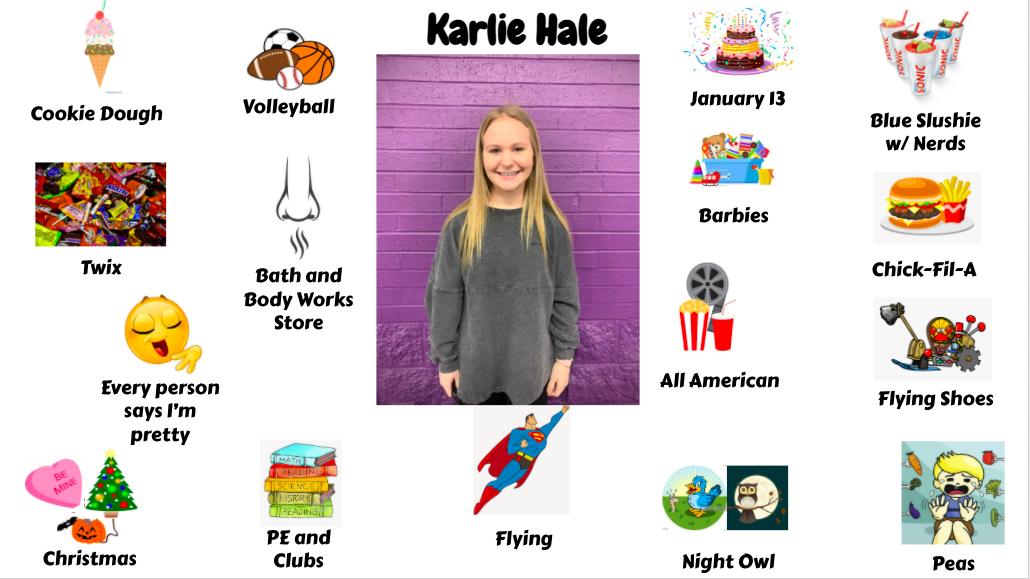 Jr. High Student Karlie Hale
