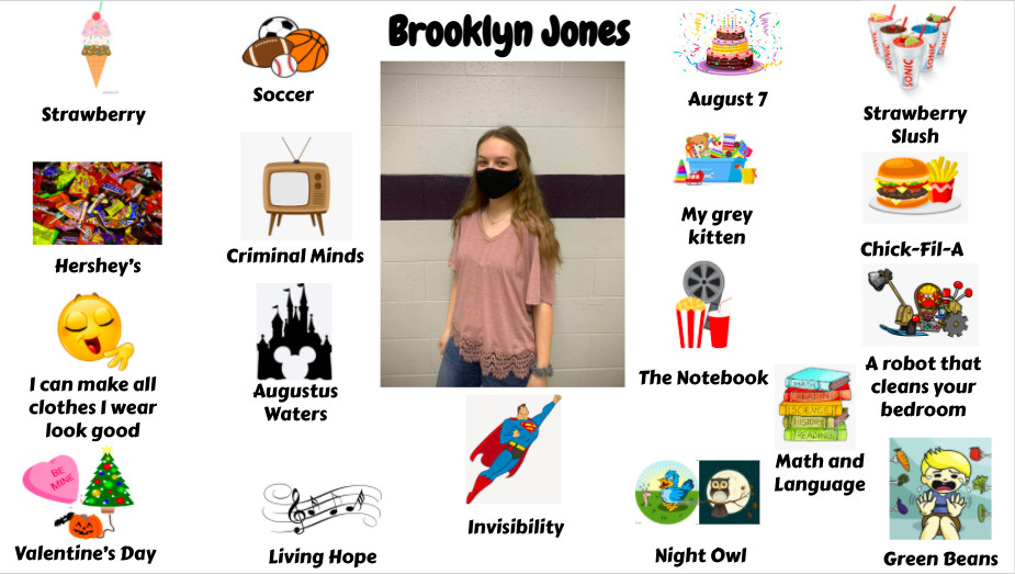 Jr. High Student Brooklyn Jones