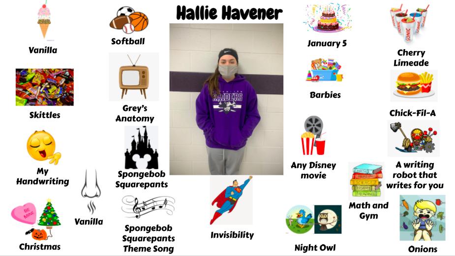 Jr. High Student Hallie Havener