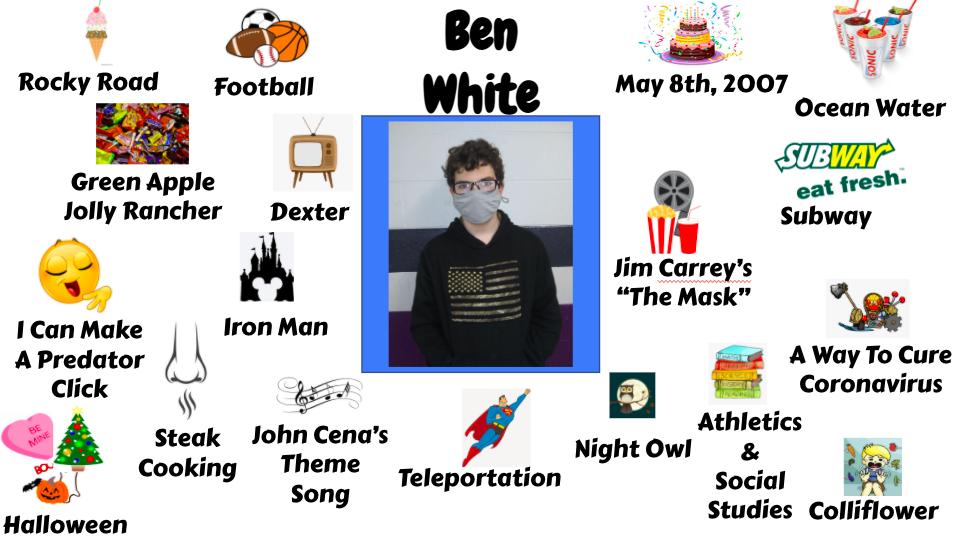 Jr. High Student Ben White