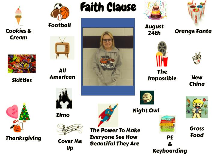 Jr. High Student Faith Clause