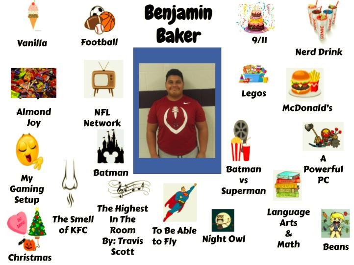 Jr. High Student Ben Baker