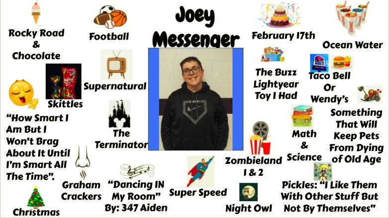 Jr.High Student Joey Messenger