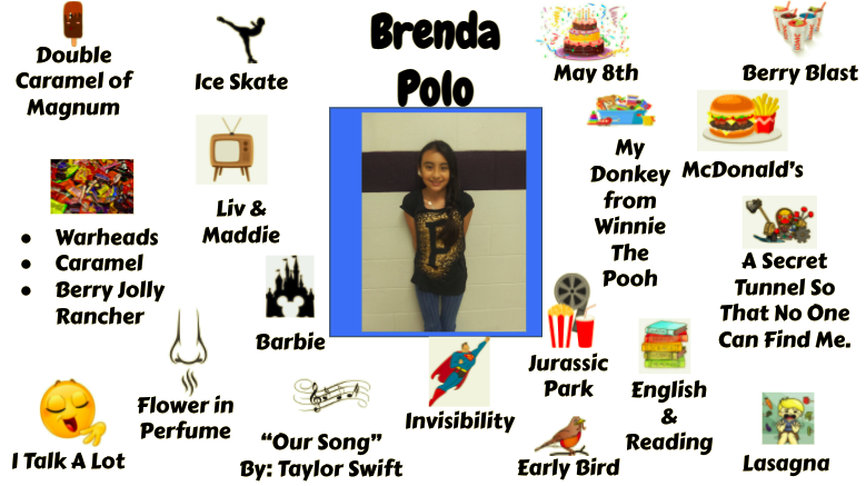 Jr. High Student Brenda Polo