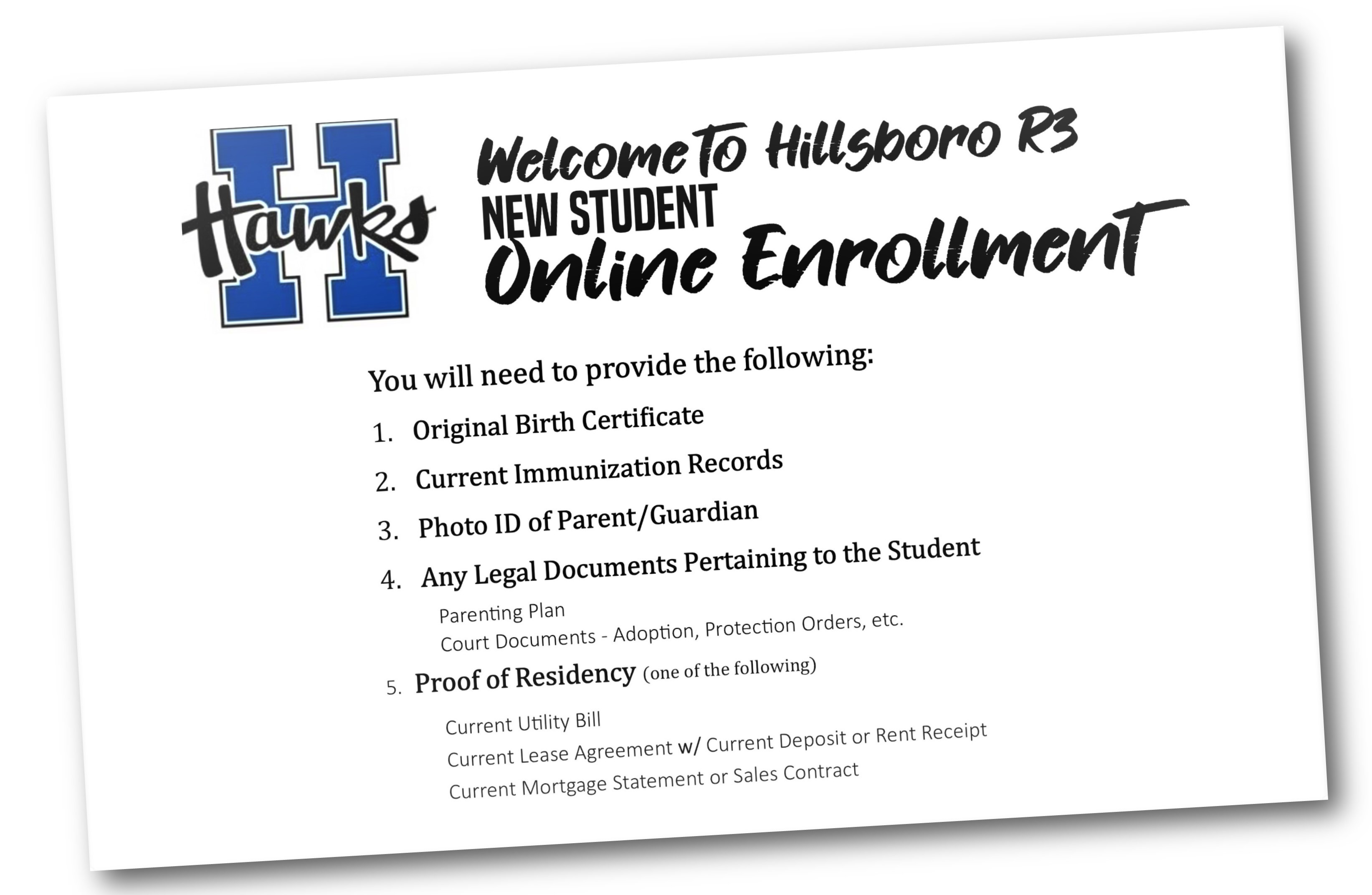 What you will need to enroll