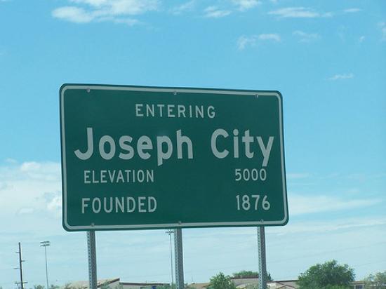 Entering Joseph City Sign