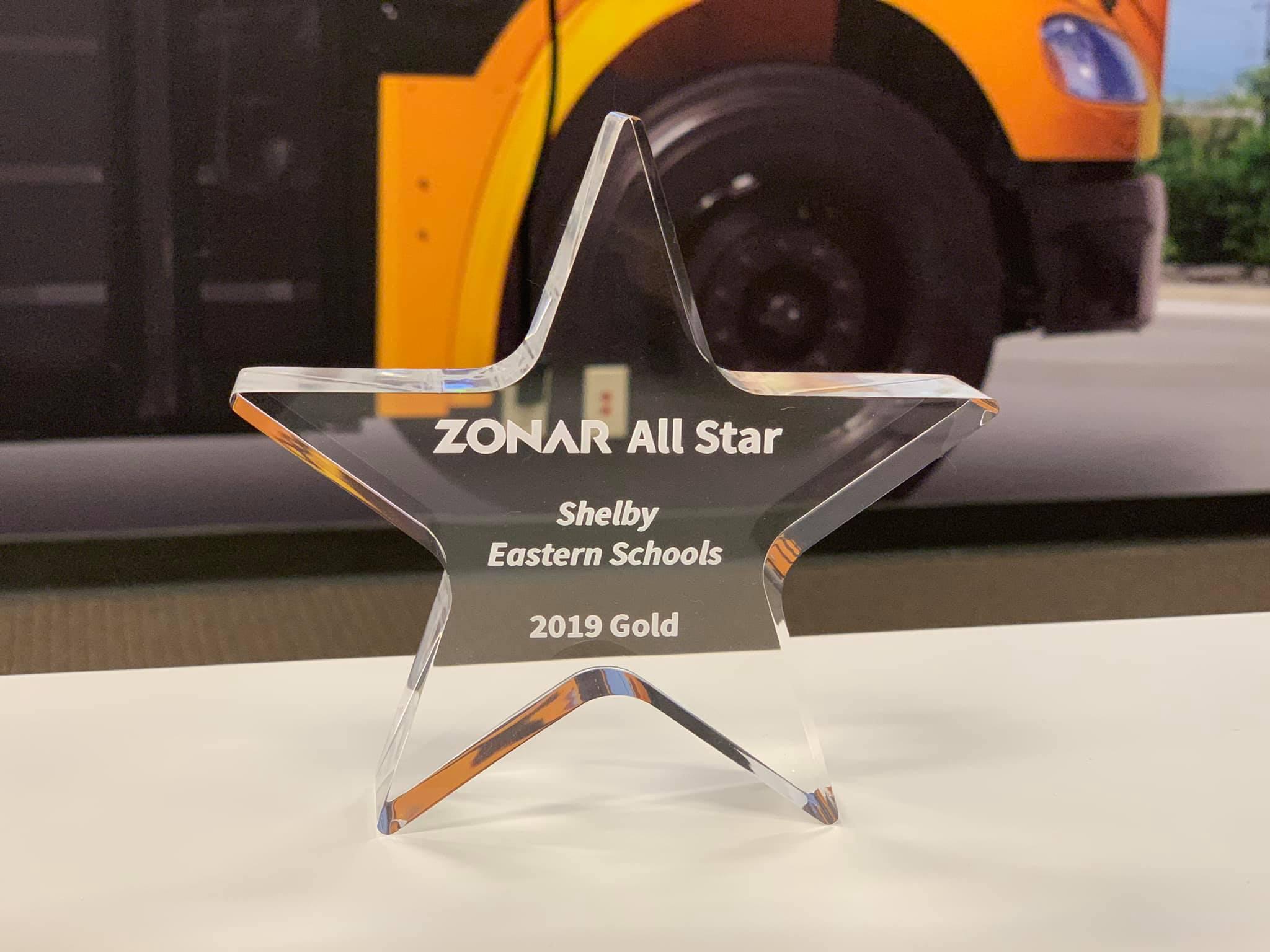 Zonar GOLD Award Winner Trophy