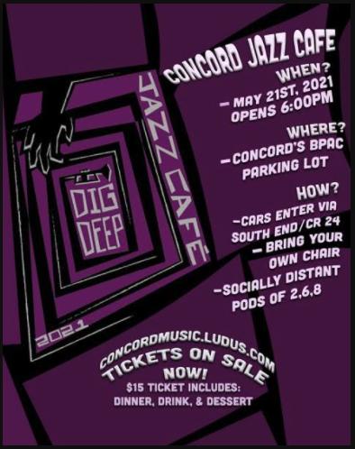 Jazz Cafe' Friday, May 21. Tix still available!