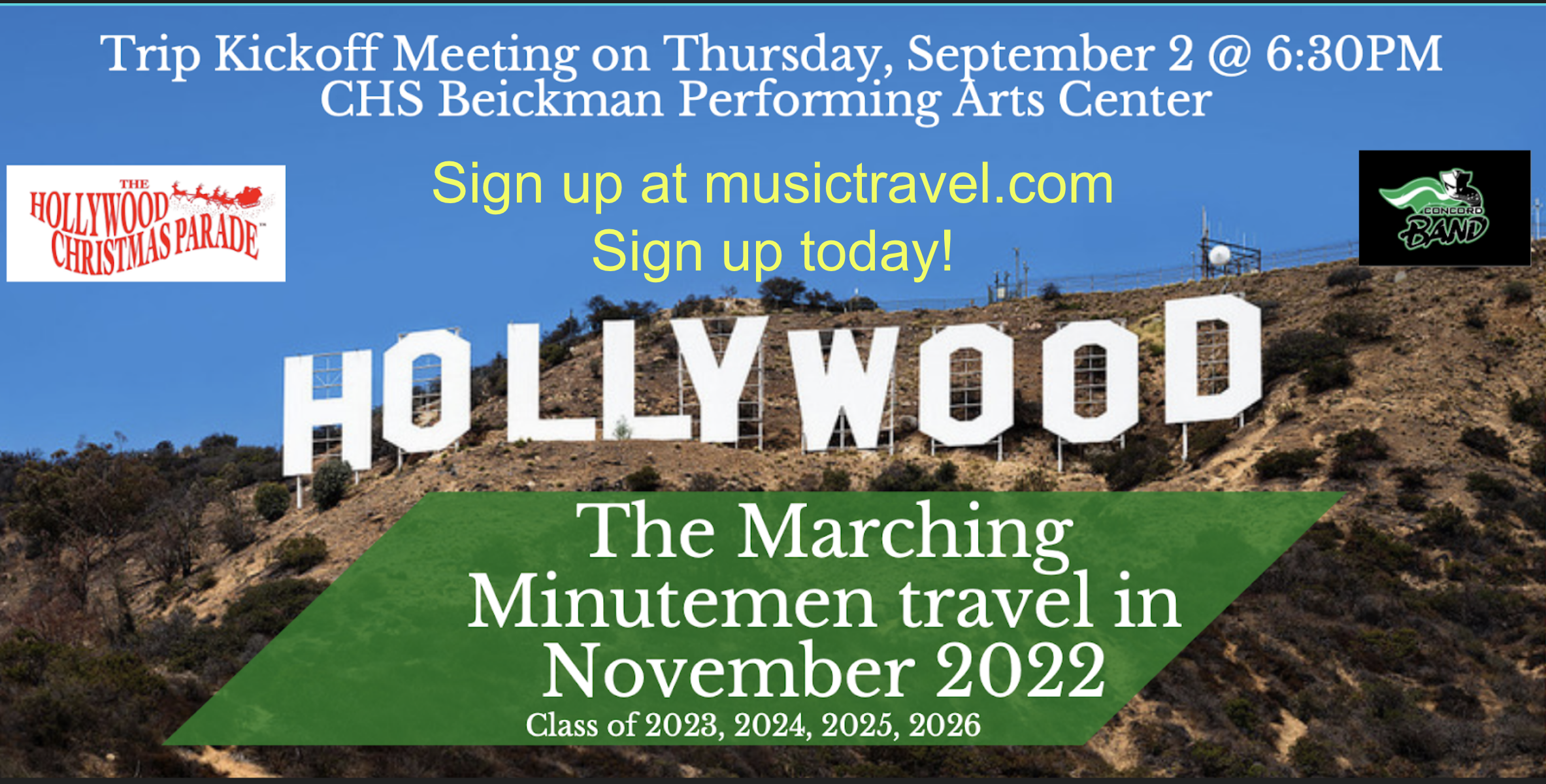 Join us in Hollywood