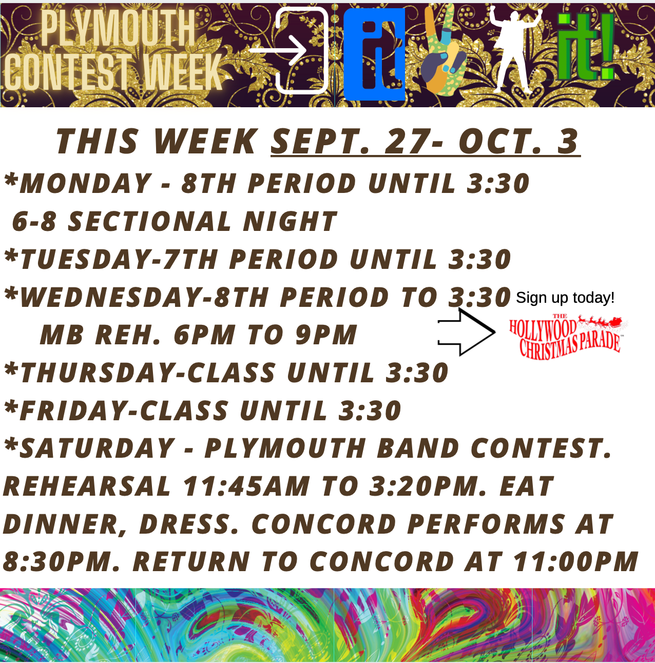 Week of Aug. 9 to 13
