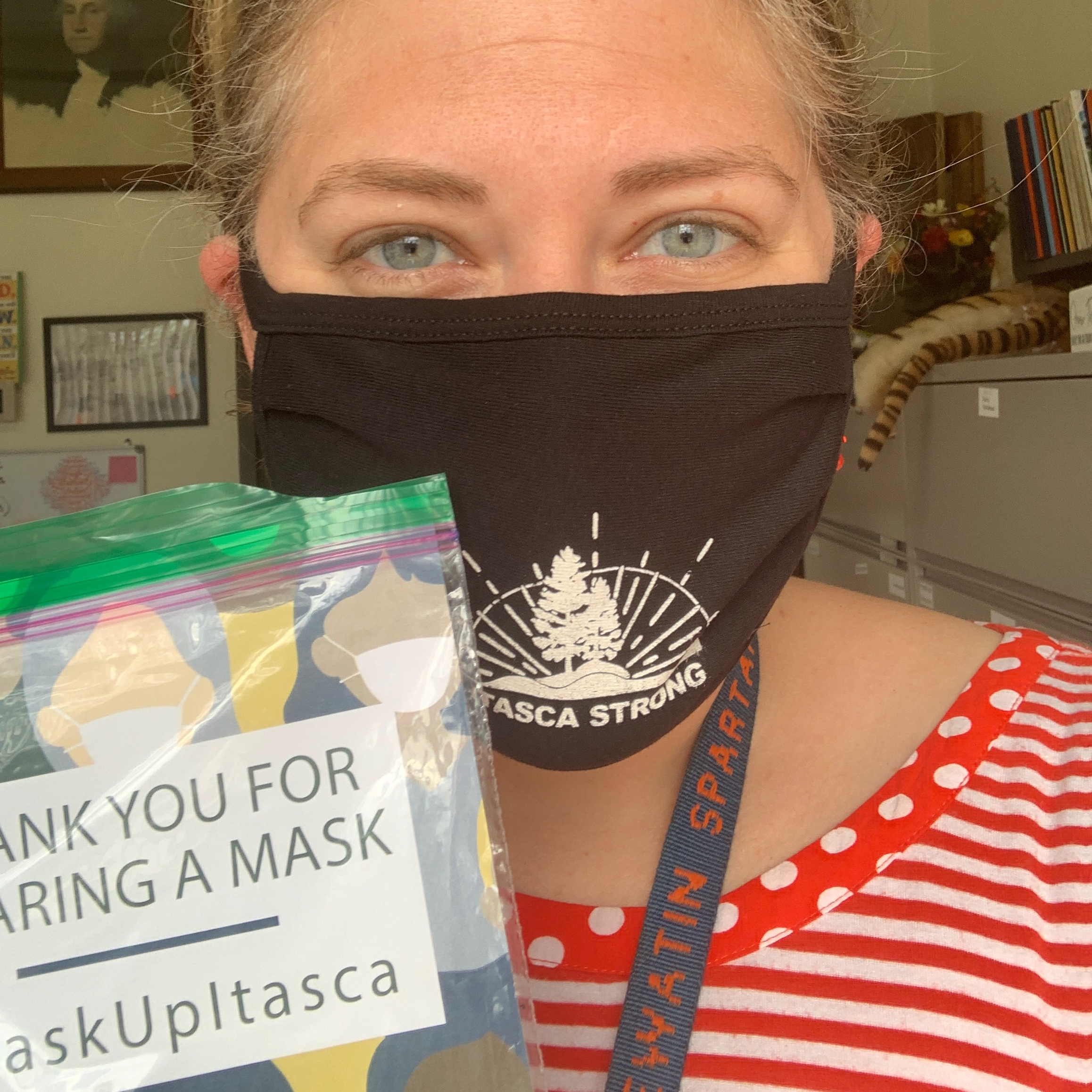 Mask up Itasca