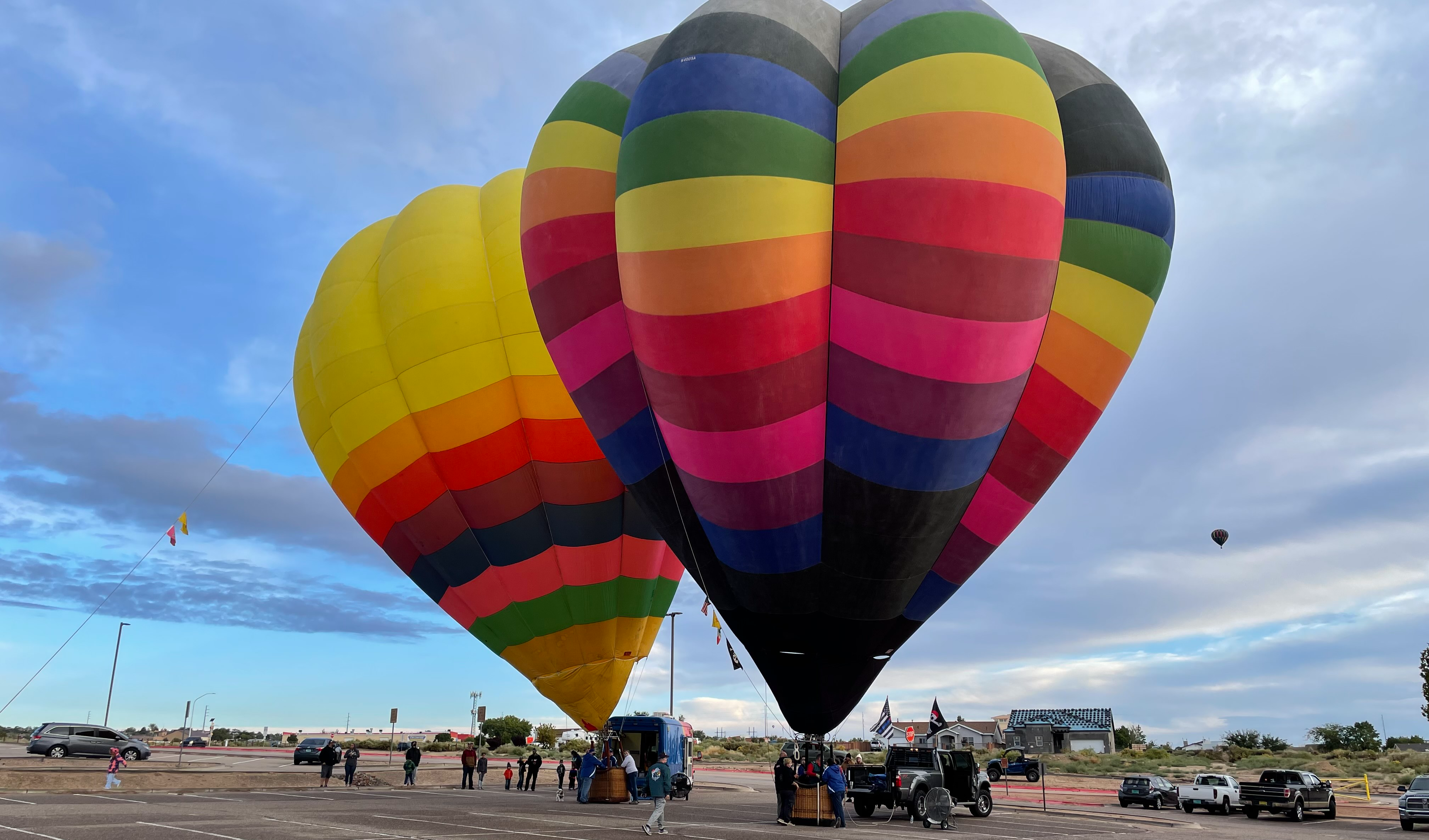 Hot air balloons at Maggie Cordova Elementary School for the Balloons Aloft event for 2021