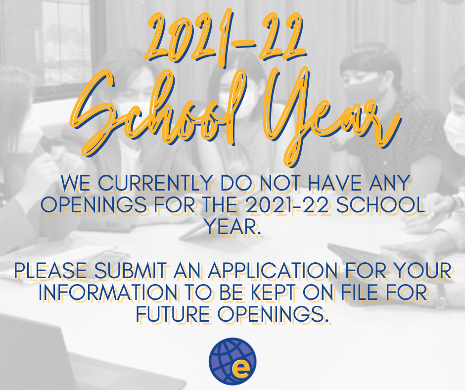 2021-2022 School Year Openings
