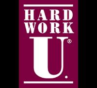 hard work u logo