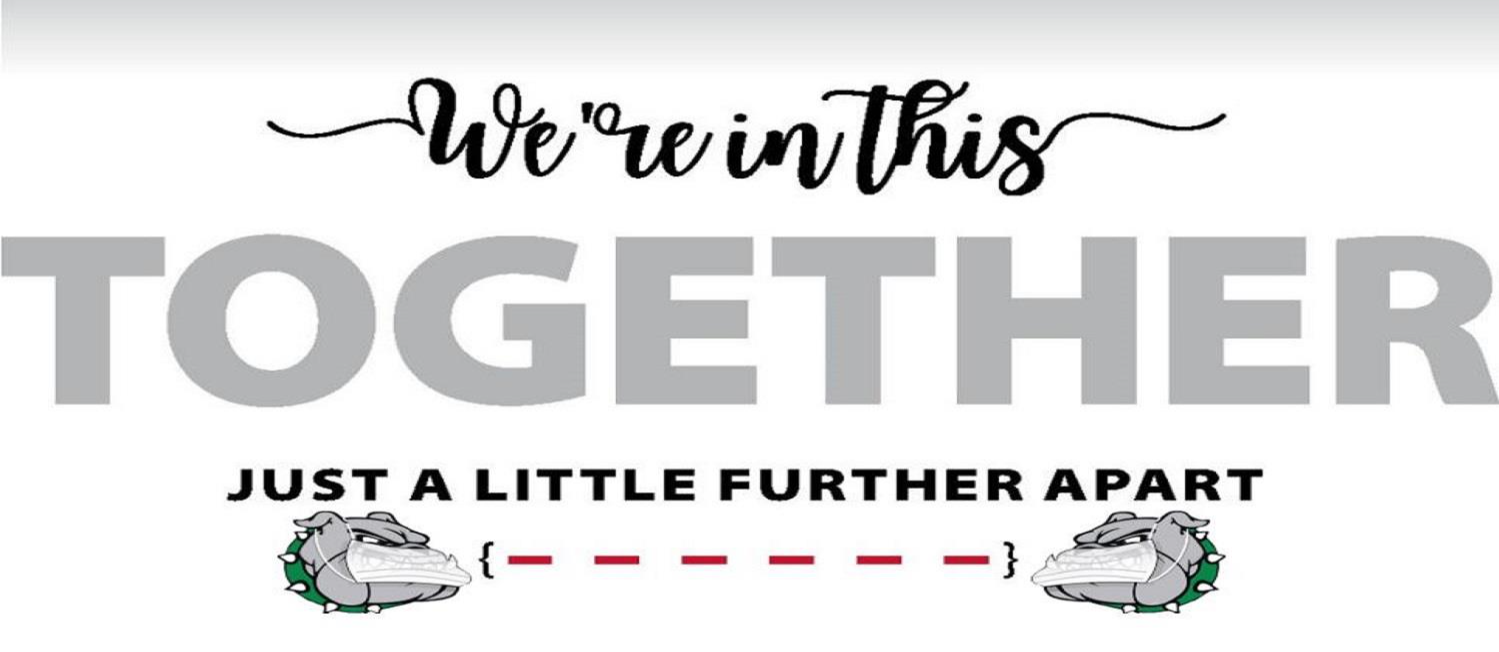 We're in this together, just a little further apart logo
